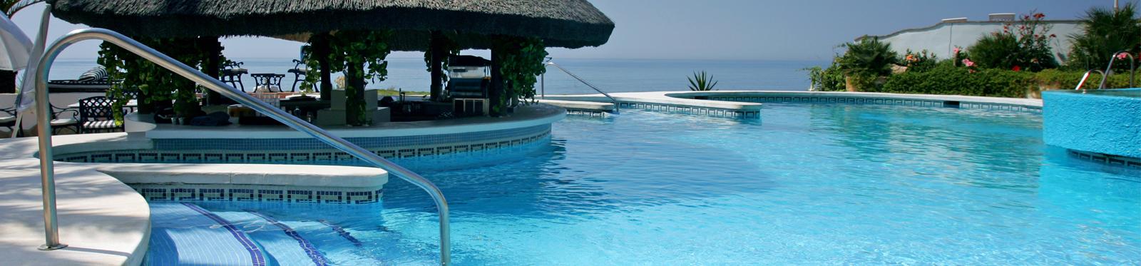 swimming pool in the sun
